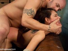 Latina bound and ass fucked by cruel coach. - Unique Bondage - Pic 8