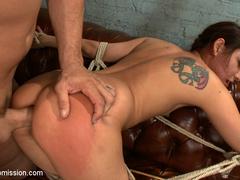 Latina bound and ass fucked by cruel coach. - Unique Bondage - Pic 9