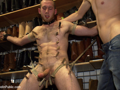 19 year old stud with a giant cock gets used - Unique Bondage - Pic 7