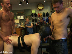 19 year old stud with a giant cock gets used - Unique Bondage - Pic 8