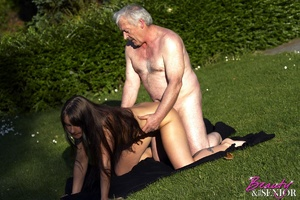 A very horny old grandpa screwing a rand - XXX Dessert - Picture 4