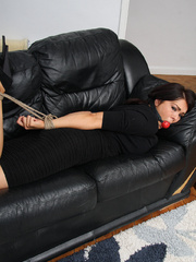 Sexy young lady Charley finds herself all - Unique Bondage - Pic 6