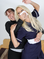 Fiona Jane gagged and clingflimed - Unique Bondage - Pic 2