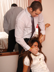 Valerie hogtied and gagged by husband - Unique Bondage - Pic 3