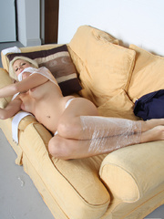 Fiona Jane gagged and clingflimed - Unique Bondage - Pic 13