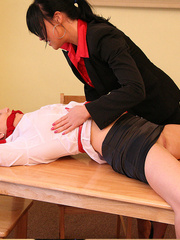 Lolly badcock humilates Michelle B tied to a - Unique Bondage - Pic 2