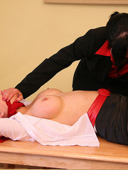 Lolly badcock humilates Michelle B tied to a - Unique Bondage - Pic 6
