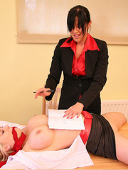 Lolly badcock humilates Michelle B tied to a - Unique Bondage - Pic 11