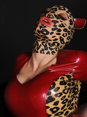 Hot latex babe Lucy takes on two guys thick - Unique Bondage - Pic 8