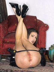 Steaming hot Jessica Jaymes smokes and - Unique Bondage - Pic 11