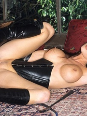 Steaming hot Jessica Jaymes smokes and - Unique Bondage - Pic 14