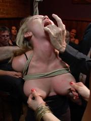 Busty blonde captured cutie gets ger body - Unique Bondage - Pic 5