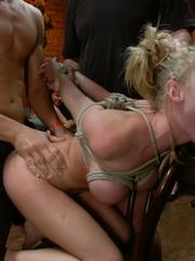 Busty blonde captured cutie gets ger body - Unique Bondage - Pic 12