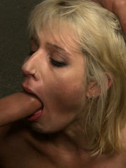 Blonde gagballed slave chick geys humiliated - Unique Bondage - Pic 10