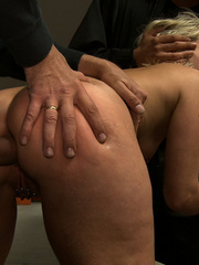 Blonde gagballed slave chick geys humiliated - Unique Bondage - Pic 14