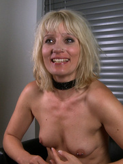 Blonde gagballed slave chick geys humiliated - Unique Bondage - Pic 15