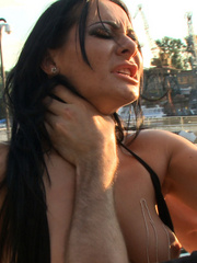 Tortured outdoors slave babe forced to lick - Unique Bondage - Pic 11