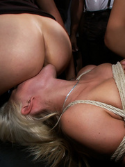 Innocent lloking blonde slave used up and - Unique Bondage - Pic 7