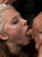 Innocent lloking blonde slave used up and - Unique Bondage - Pic 14