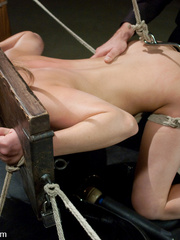 Tied up and whipped blonde slave gets her - Unique Bondage - Pic 10
