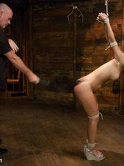 Petite brunette slave beauty gets her soft - Unique Bondage - Pic 3