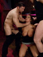 Enslaved bartender babe with epic boobs - Unique Bondage - Pic 5