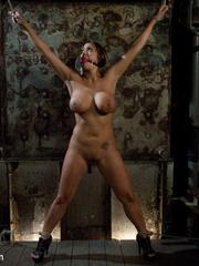 Enslaved bartender babe with epic boobs - Unique Bondage - Pic 6