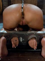 Enslaved bartender babe with epic boobs - Unique Bondage - Pic 9