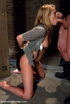 Restarined blonde young slave completely overwhelmed by punishment and