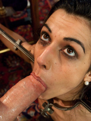 Dark haired restrained beauty gets her first - Unique Bondage - Pic 6
