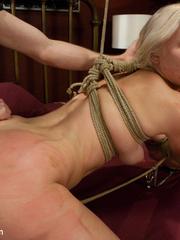 Petite blonde slave girl gets her body - Unique Bondage - Pic 8