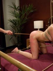 Petite blonde slave girl gets her body - Unique Bondage - Pic 9