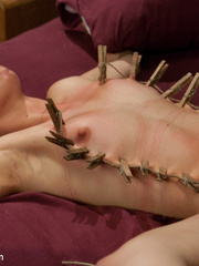 Petite blonde slave girl gets her body - Unique Bondage - Pic 11