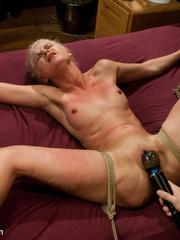 Petite blonde slave girl gets her body - Unique Bondage - Pic 12