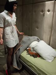Sexy restrained nurse is enthusiastic about - Unique Bondage - Pic 3