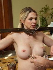 Blonde enslaved maid gets her tight ass - Unique Bondage - Pic 5