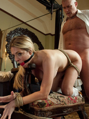 Blonde enslaved maid gets her tight ass - Unique Bondage - Pic 8