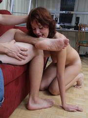 Brunette slave chick looks enthusiastic - Unique Bondage - Pic 9