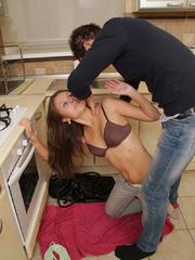 Captured brunette teen nymph gets undressed - Unique Bondage - Pic 4