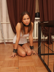 Little slim captured girl gets bondaged and - Unique Bondage - Pic 1