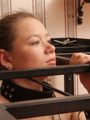 Lovely ensalved hottie treated like a dog - Unique Bondage - Pic 3