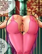 Torture drawings. Pink stockings on long legs busty beautiful girls!