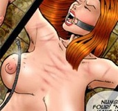Bondage cartoons. First rule! You can't speak unless you're told to here