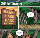 Bdsm cartoons. Two travellers alone in the forest...