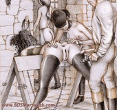 Bdsm art. A new pony girl trained...