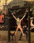 Slave art. Roman war prisoners gonna feel great pain of humiliation!