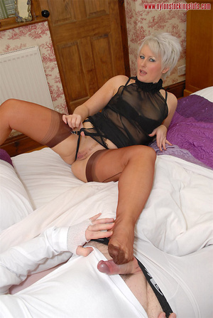 Blonde mature mil in awesome nylons gets - XXX Dessert - Picture 10