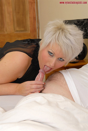 Blonde mature mil in awesome nylons gets - XXX Dessert - Picture 15