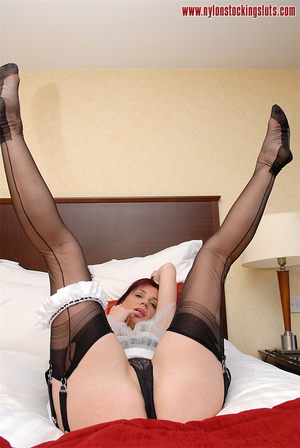Lusty amateur maid in black stockings to - XXX Dessert - Picture 7