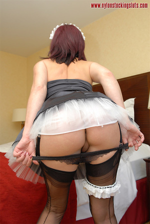 Lusty amateur maid in black stockings to - XXX Dessert - Picture 11